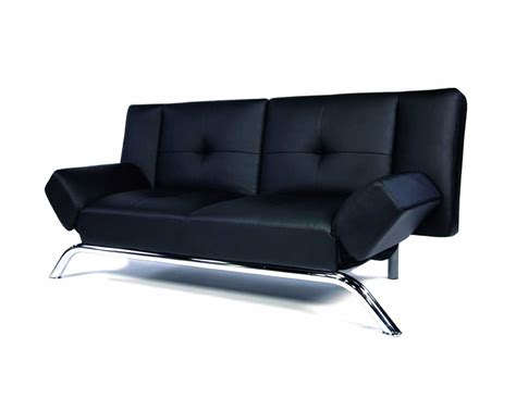 a black leather sofa receiving visitors in style