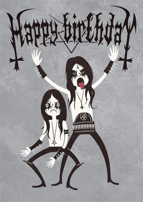 Heavy Metal Birthday Memes - black metal birthday by nemons on deviantart design pinterest happy metals and card designs