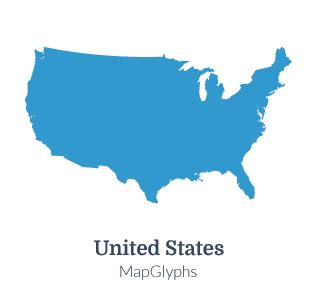 us map outline icon mapglyphs dots united states map glyphs