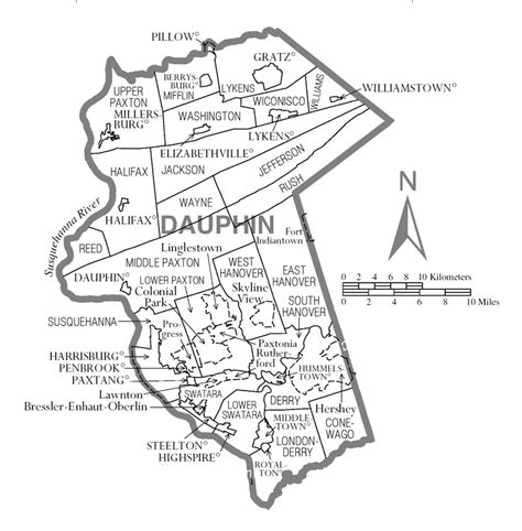 Dauphin County Records File Map Of Dauphin County Pennsylvania Png Wikimedia Commons