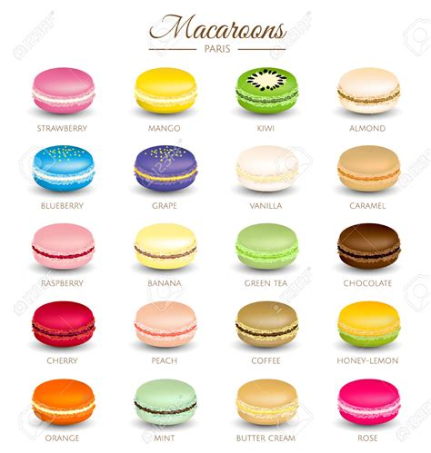 colorful macaroons colorful macaroons flavors macaroons