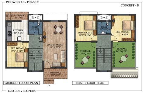 indian bungalow designs and floor plans floor plan periwinkle bungalows at murbad indian eco