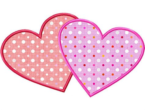 free machine embroidery applique two hearts applique machine embroidery design