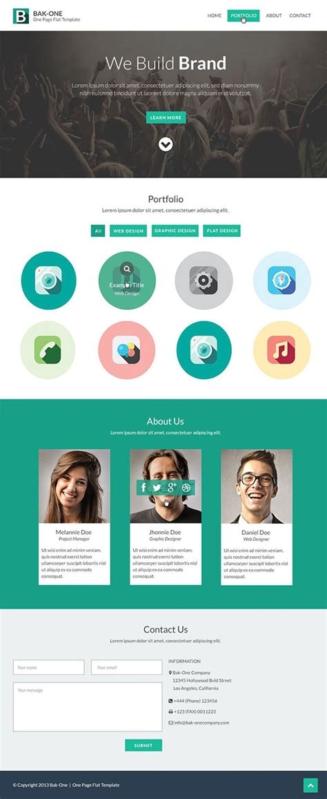 26 Free One Page Psd Web Template Designs Free Premium Creatives Page Templates Free