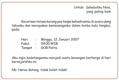 koleksi contoh invitation letter surat undangan the knownledge