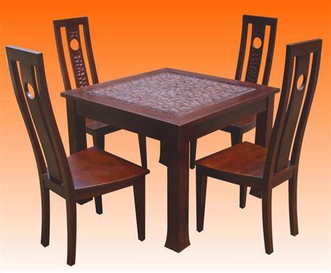set meja dan kerusi makan dinning set aneka perabot ukiran jati jepara gedung perabut jati