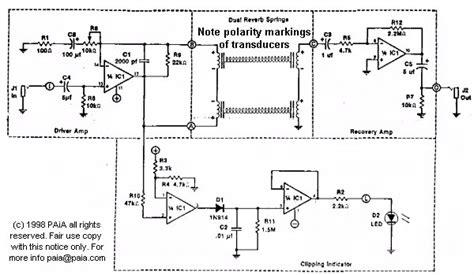 transistor reverb driver paia corporation springs reverb schematics