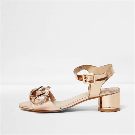 gold metallic sandals gold metallic bow block heel sandals sandals