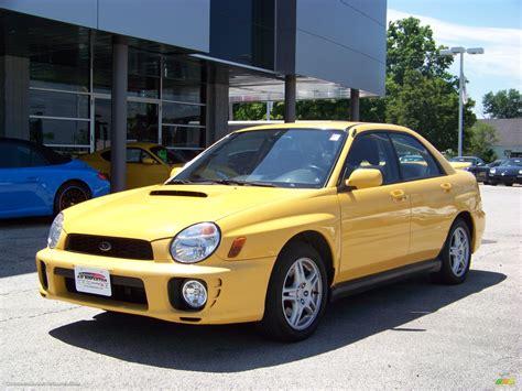 subaru yellow 2003 subaru impreza wrx sedan in sonic yellow 501865