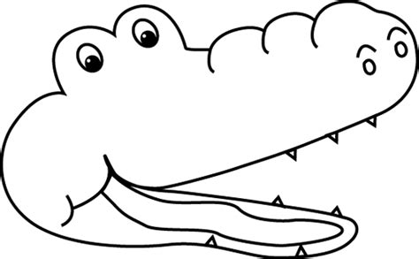 Alligator Mouth Coloring Page | black and white less than alligator clip art black and