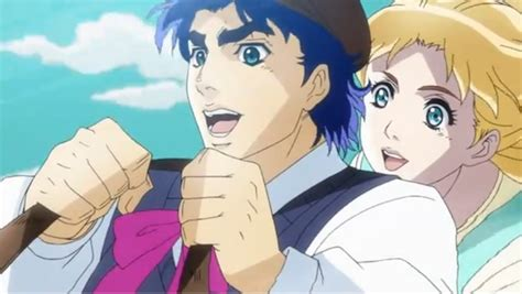 jojo anime kiss jojo s bizarre adventure episode 1 is so bizarre anime