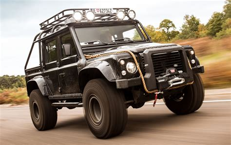 land rover truck bond the land rover defender svx is more of a stuntman