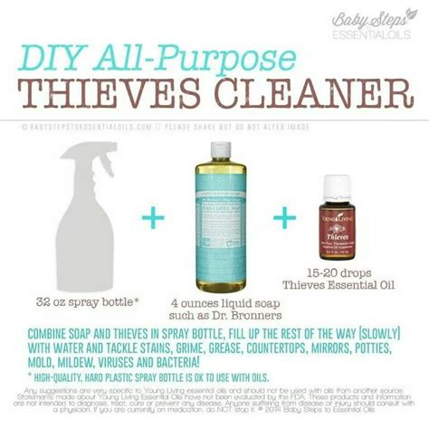 using thieves in your kitchen the oily home companion homemade counter cleaner essential oil crazy homemade