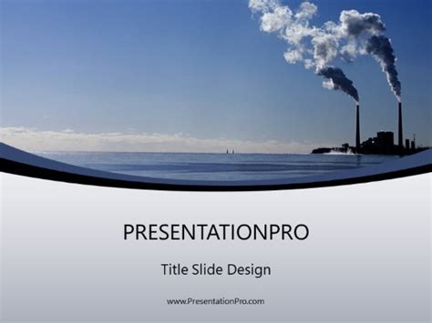 Factory Air Pollution Powerpoint Template Background In Air Powerpoint Template
