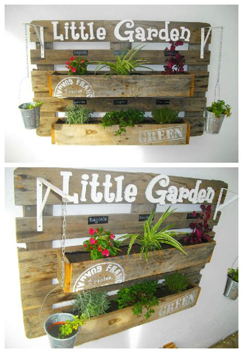 pallet wall garden upcycled pallet wall planter 1001 gardens