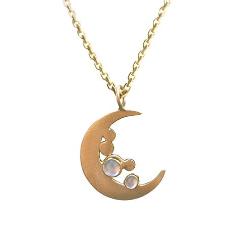 Asos Simple Gold Moon Ring silver necklaces with moon and black models picture