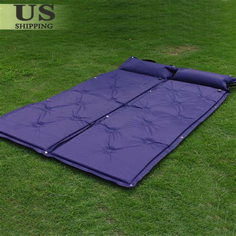 2 outdoor cing self inflating air mat mattress pad pillow hiking sleeping bed ebay