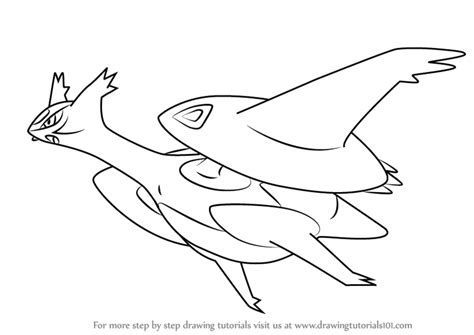 pokemon coloring pages latios learn how to draw mega latios from pokemon pokemon step