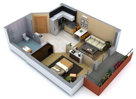 1 Bedroom Efficiency Apartment dise 241 os de interiores de casas peque 241 as y economicas