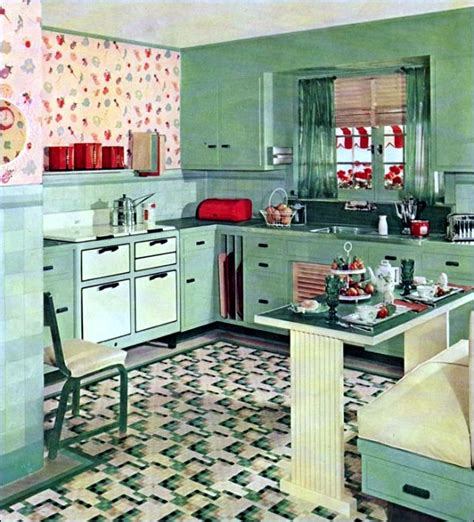 retro kitchen design ideas cartoon 1950s kitchen