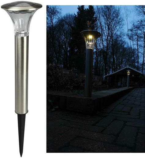 Solar Garden L Post Lights Luxform Lighting Reims Outdoor Garden Path Solar Led High