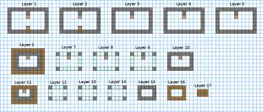 Minecraft House Blueprints Layer By Layer Layer By Minecraft Castle Floor Plans Trend Home Design