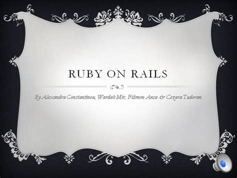 ruby on rails templates ruby on rails presentation coursework authorstream