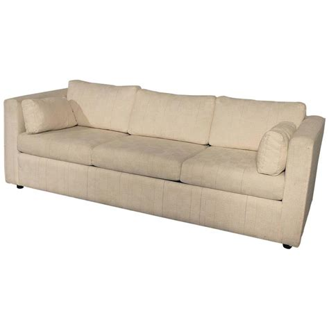 Sleeper Style by Mid Century Modern White Tuxedo Style Sleeper Sofa At 1stdibs