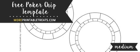 Poker Chip Template Medium Free Chip Template