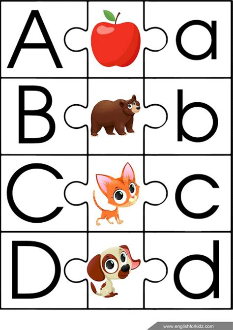 printable abc puzzle esl game alphabet puzzle