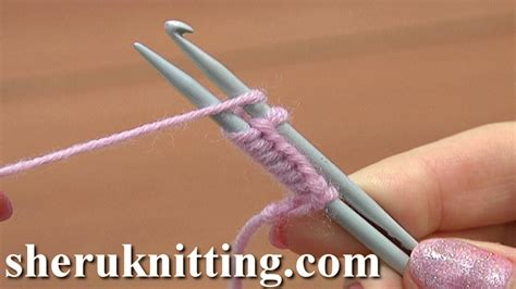 how to knit with a crochet hook cast on with a knitting needle and a crochet hook tutorial