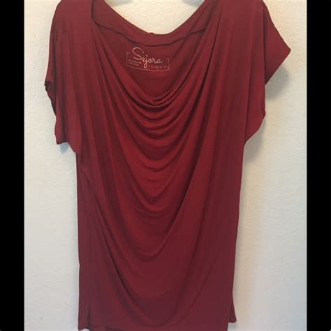 86 sejora tops xl wine colored sleeve