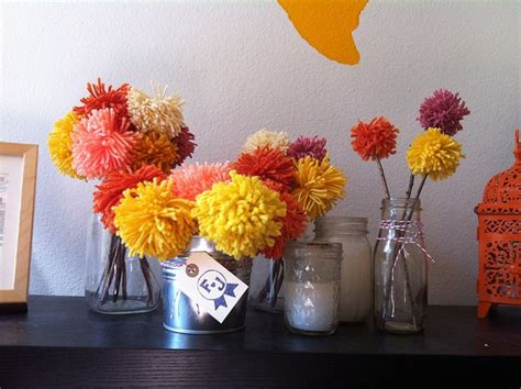 easy wedding centerpieces non flowers how to make yarn poofball wedding decor in three easy steps offbeat