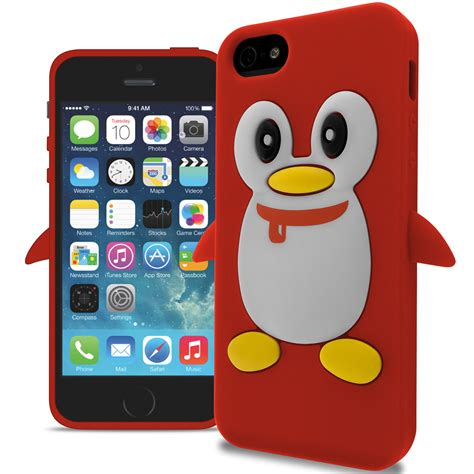 penguin rubber sts for apple iphone 5s 5 penguin design silicone soft