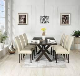 Chagne Dining Room Furniture Marlo 7 Dinette Set Walnut And Beige S