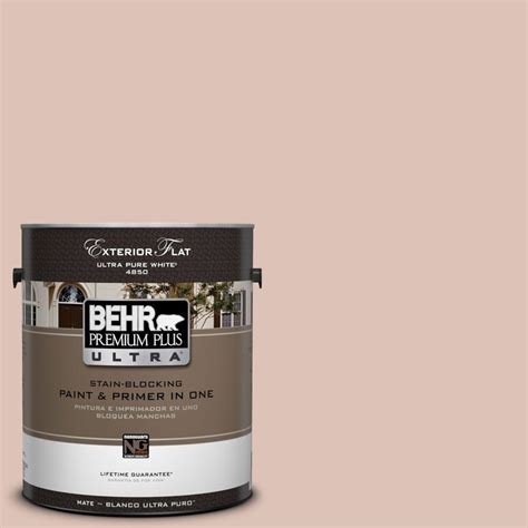 behr premium plus ultra 1 gal ul120 15 coral flat exterior paint 485401 the home depot