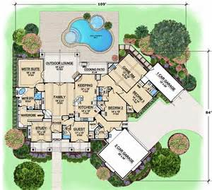 1 Story Luxury House Plans Luxury Style House Plans 3584 Square Foot Home 1 Story