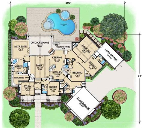 monsterhouseplans com luxury style house plans 3584 square foot home 1 story