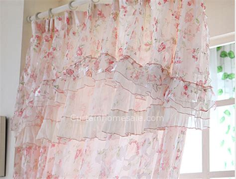 Beautiful Floral Pattern Elegant Lace Sheer Panels Shabby Shabby Chic Curtain Panels