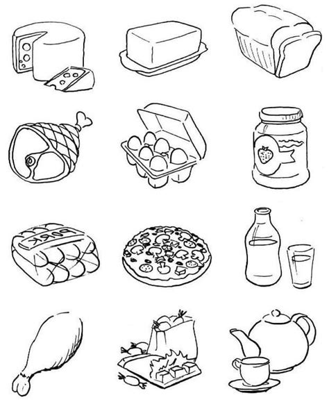 food coloring healthy food coloring pages free printable healthy food