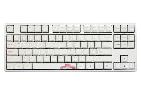 Ducky One Tkl Dkon1687 Mechanical Keyboard Cherry Mx Brown ducky one rainbow white frame tkl dye sub pbt mechanical