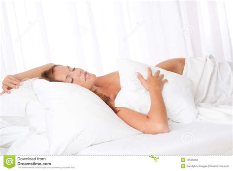 woman sleeping in bed young woman sleeping in bed stock photo image 10535860