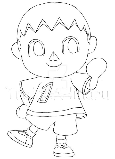 Villager Coloring Page | villager animal crossing super smash bros by