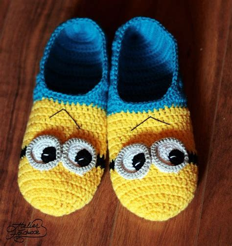 knitted minion slippers minion slippers pattern pdf file by atelierhandmadecom on