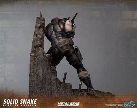 First4figures Mgs Solid Snake Statue Metal Gear Solid Statue Solid Snake 4 Figures
