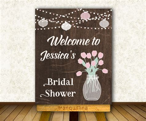 printable bridal shower signs bridal shower welcome sign printable rustic by tranquillina