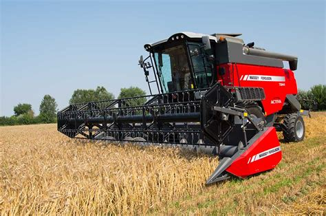 Cat Two Mf advanced engines power new mf activa combines from massey