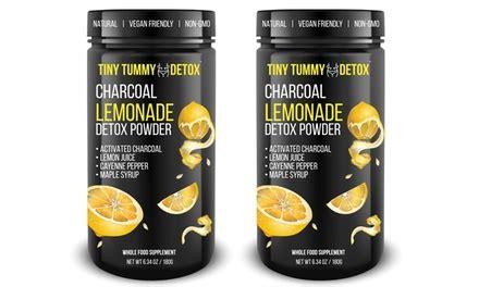 Charcoal Lemonade Detox by Tiny Tummy Tea Detox Activated Charcoal Lemonade Powder 1