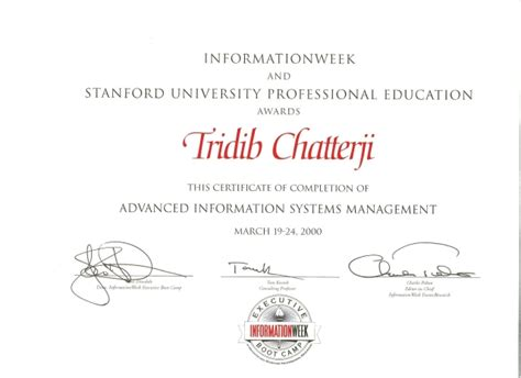 Stanford Mba Ceu by Education Certificate Stanford Executive Education