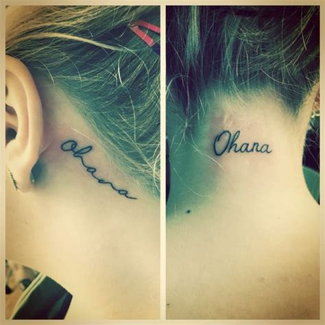 tattoo on hairline of neck mine and sadie s raptorkitty sister tattoos hers is